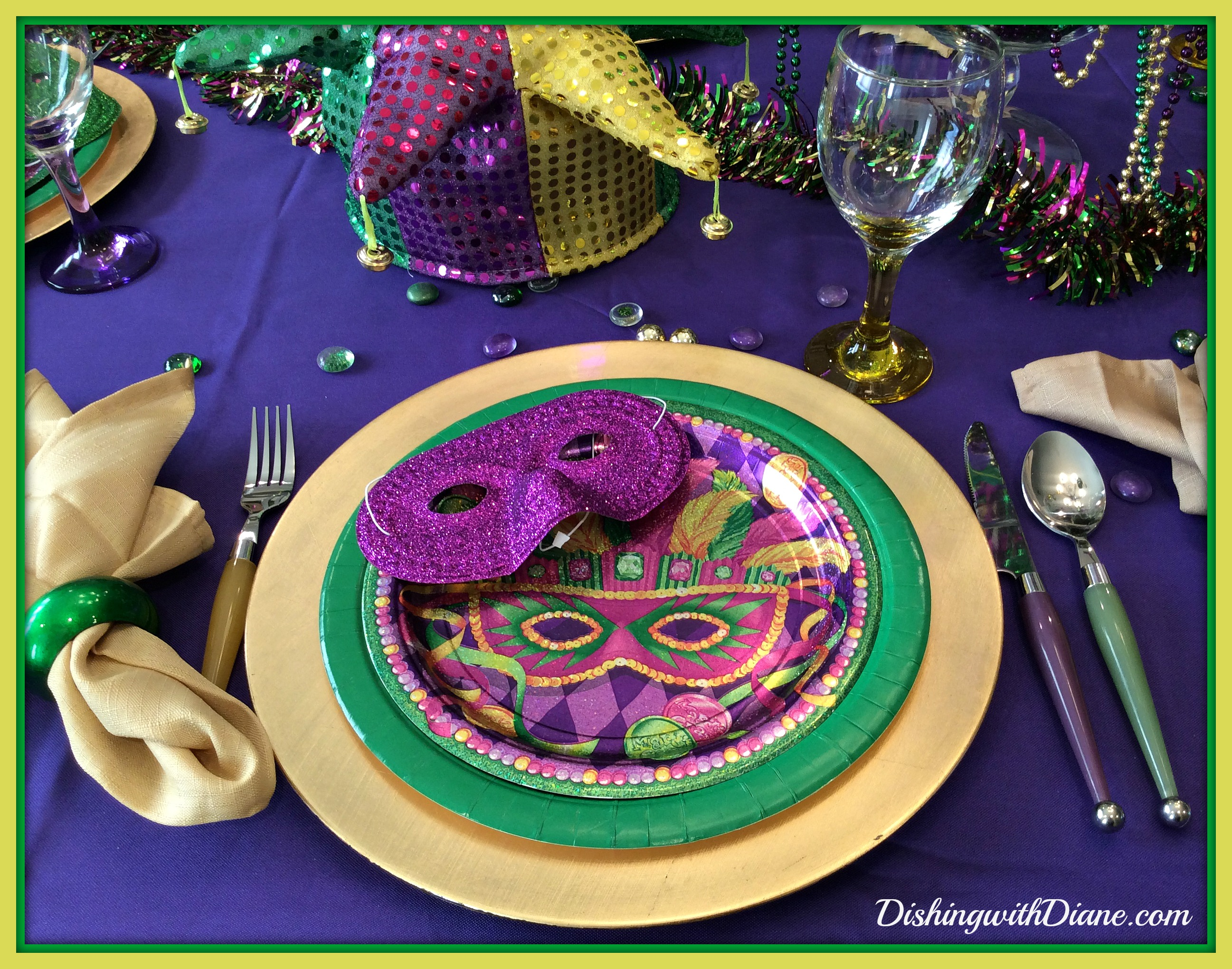 Mardi Gras Dishing With Diane. Mardi Gras Table Setting and Decorations  sc 1 st  Best Image Engine & Amusing Mardi Gras Table Setting Photos - Best Image Engine ...