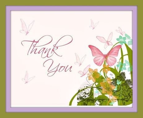 Butterfly-Pink-Floral-Bridal-Thank-You-Brown-Front-l1- THANK YOU FOR BLOG 2