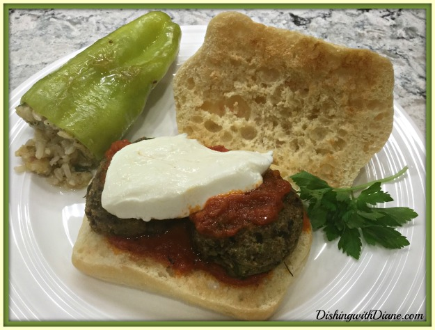 DINNER PLATE WITH EGGPLANT PATTIES